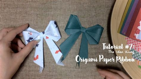 Origami Paper Ribbon - how to make origami paper ribbon step by step the idea
