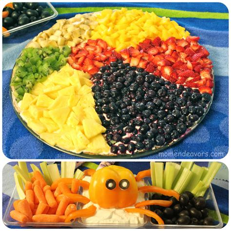 themed food fruit pizza bell pepper octopus veggie dip
