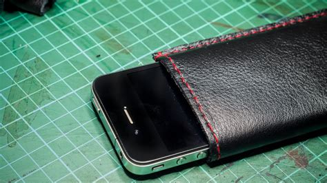 create  upcycled leather iphone case diy technology