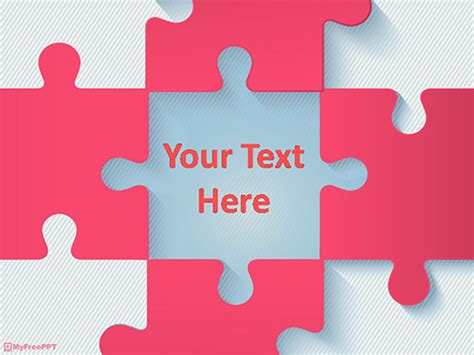 free puzzle pieces powerpoint templates myfreeppt