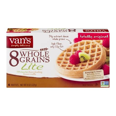 8 whole grain foods s 8 whole grains lite frozen waffles from whole foods
