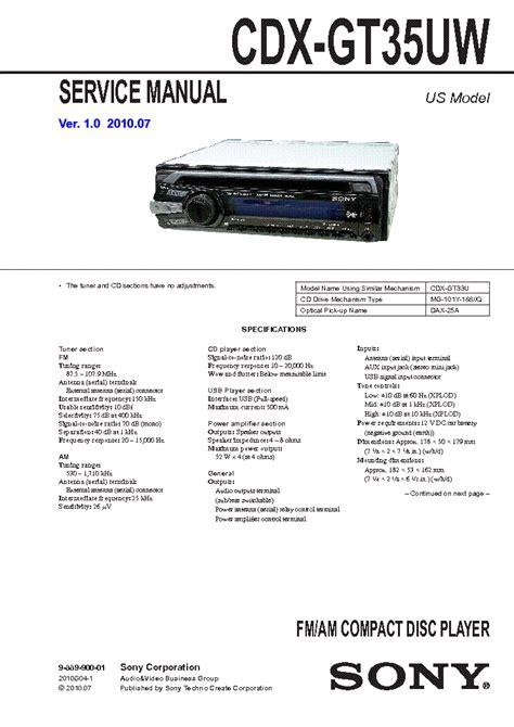 sony cdx gt35uw wiring diagram sony xplod cdx gt35uw wiring diagram repair wiring scheme