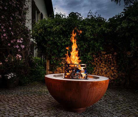 garten feuer feuerkugelgrill grillieren im winter do it garden