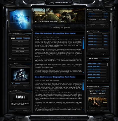 best gaming templates imr clan site v3 wip by immortalmedia on deviantart