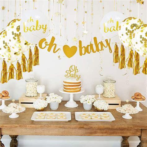 baby shower decorations neutral decor  boy girl gold