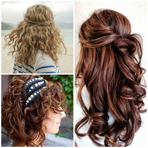 Hairstyles For Curly Haired by Curly Prom Hairstyles For Haired Brunettes Hair