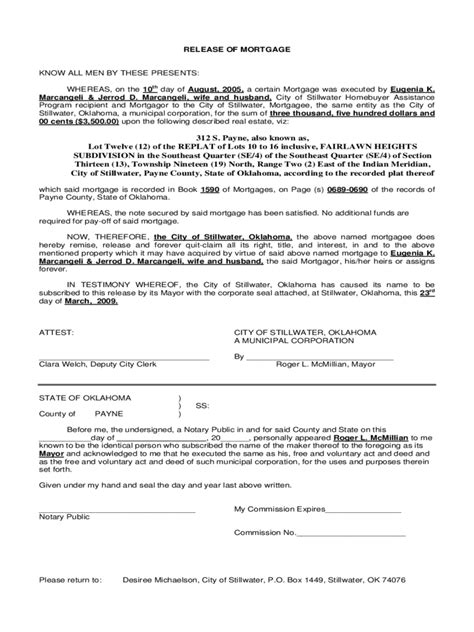 Mortgage Release Letter Satisfaction Of Mortgage Form 13 Free Templates In Pdf Word Excel