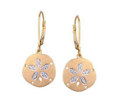 Sand Dollar Earring sand dollar earrings pioneer jewelers