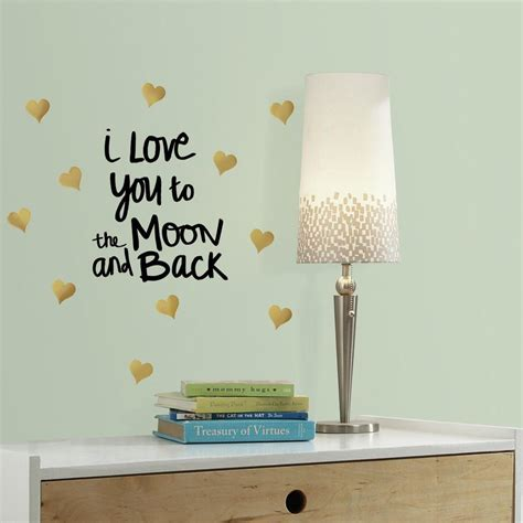 Wallsticker Sepeda I You roommates 5 in w x 11 5 in h you to the moon quote 11 peel and stick wall decal