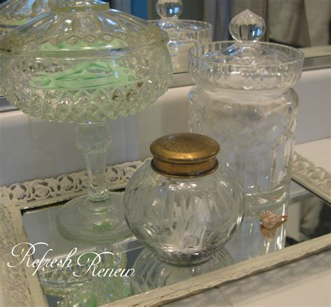 glass tray for bathroom refresh renew vintage glass on mirror tray for bathroom