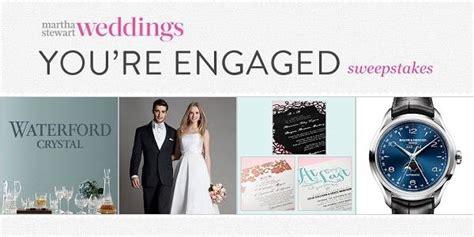 Martha Stewart Wedding Sweepstakes - martha stewart wedding engagement sweepstakes 2015 sweepstakesbible