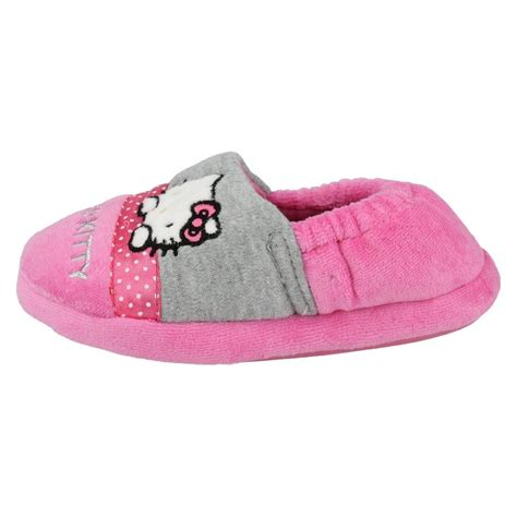 hello slippers hello slip on pink closed toe elasticated back