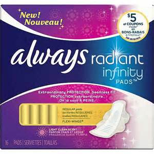 Radiant Infinity Pads Always Radiant Infinity Pads Pads Regular Flexi Wings