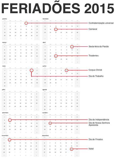 Calendario Feriados 2015 Calend 225 2015 Feriados Nacionais Quando Caem