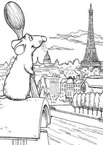 ratatouille admiring eiffel tower coloring pages batch coloring
