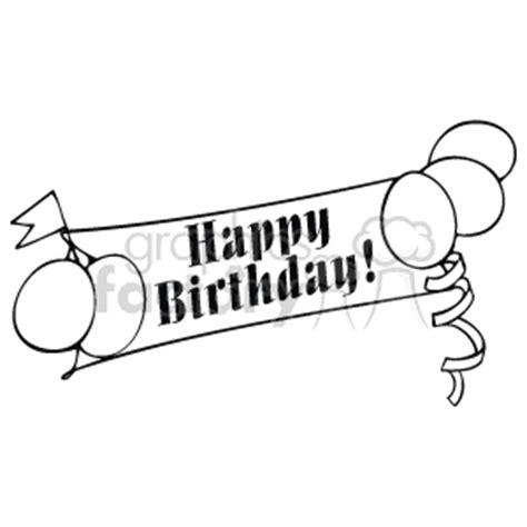 Banner Happy Birthday Black White royalty free happy birthday banner 142676 vector clip image wmf illustration