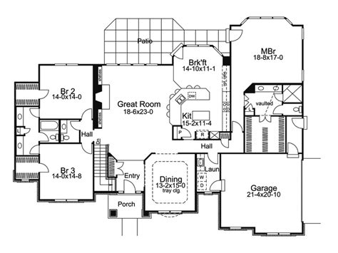one story house blueprints one story luxury house plans rugdots
