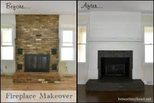 removing bricks around a fireplace diy paint living