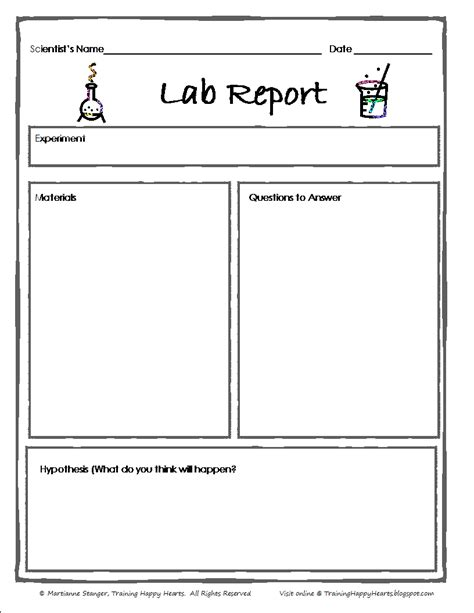 science experiment report template 6 science lab report template pay stub template