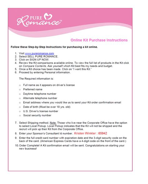 Pure Romance Gift Card - documents pure romance dream team