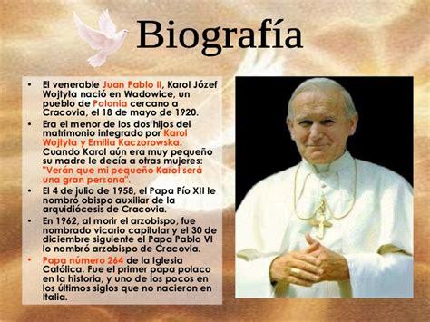 biografia del papa juan pablo ii juan pablo
