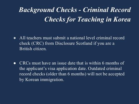 United Criminal Record United Kingdom Criminal Record Check Teaching In South Korea