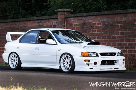 subaru gc8 white that frozen white subaru impreza sti wangan warriors