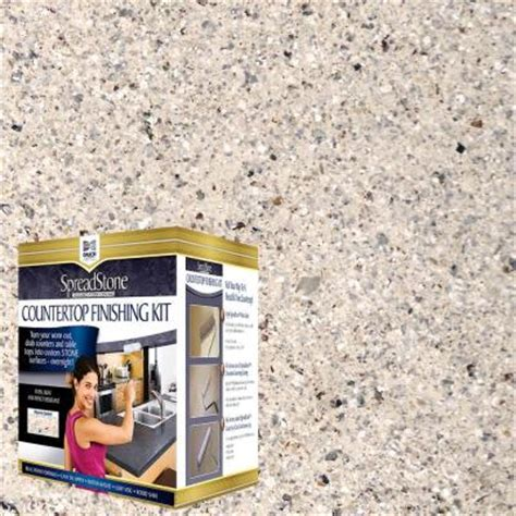 Spreadstone Countertop Finishing Kit daich spreadstone mineral select 1 qt oyster countertop refinishing kit 4 count dct mns oy