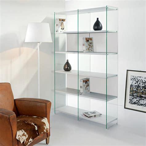 librerie a giorno divisorie libreria moderna divisoria in legno e vetro 120 x 200 cm