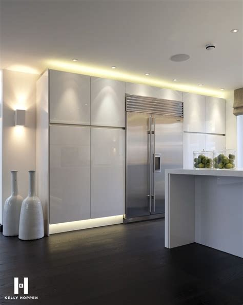 contemporary kitchen lights hoppen kitchens cabinets island