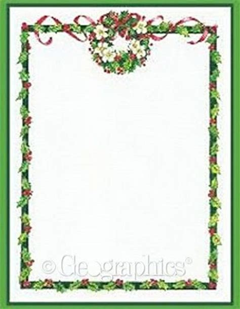 printable envelope borders free christmas menu borders holly wreath border