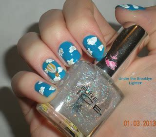 tutorial nail art pakai air under the brooklyn lights hot air balloon nail art tutorial