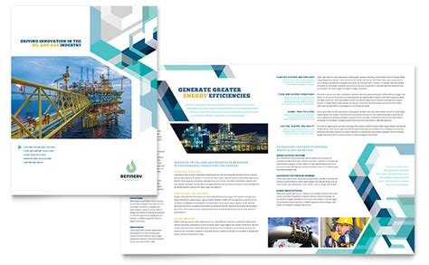 Oil Gas Company Brochure Template Design Engineering Poster Template