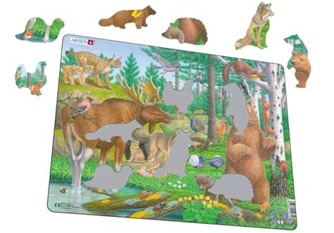 frame jigsaw puzzle forest animals larsen fh36 29 pieces