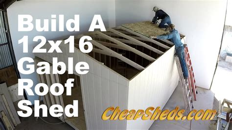 build   gable roof shed   minutes youtube