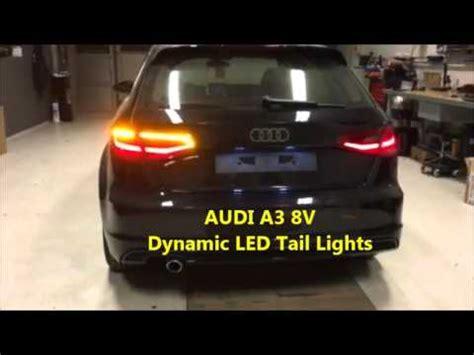 audi a3 rear light removal audi a3 8v led dynamic lights dynamischer blinker