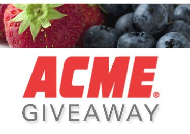Acme Gift Cards - acme gift card giveaway win an acme gift card today