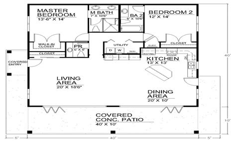 house plans 40x40 single story open floor plans open floor plan house