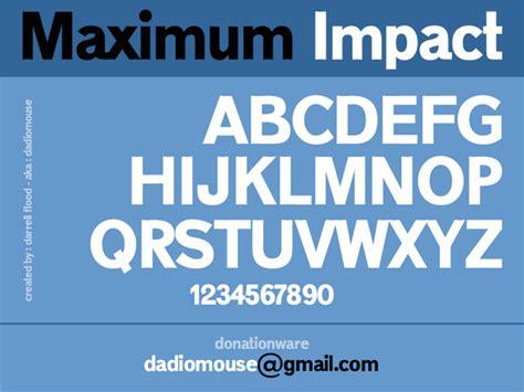 dafont impact maximum impact dafont com