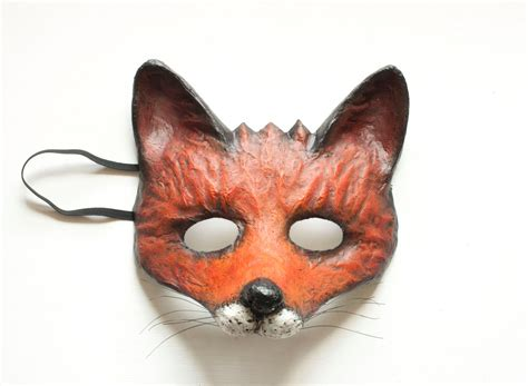 How To Make A Fox Mask Out Of Paper - the cunning fox mask fancy dress animal mask paper mask