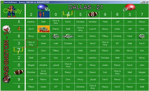 Football Pot Template by Football Squares 2004 Free