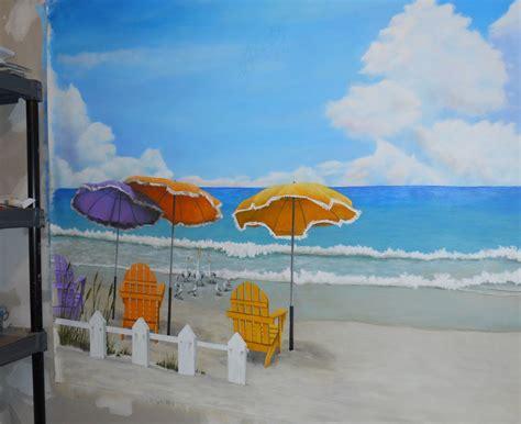 beach murals for bedrooms nebraska artist beach sandcastle mural cindy chinn s