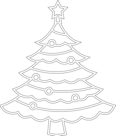printable christmas tree drawing free printable christmas tree coloring pages for kids 9