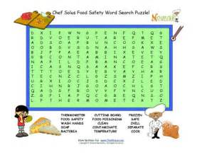 Food safety word search puzzle for kids 15 words