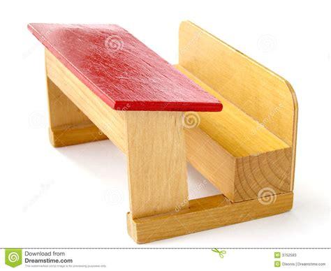 banc en bois d 233 cole de jouet photos stock image 3752583