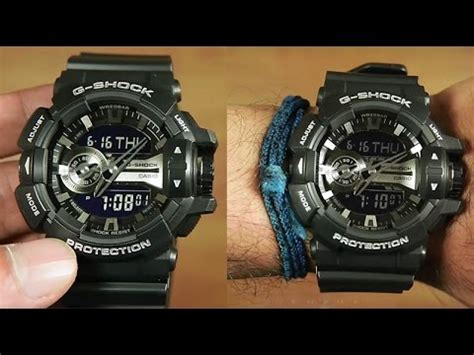 G Shock Ga 400 Rosegold Black Rubber Autolight On การต งเข ม ga 400 doovi