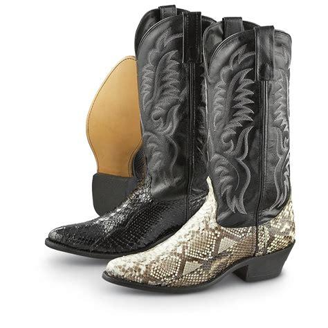 laredo boots s s laredo 174 python boots 186373 cowboy western