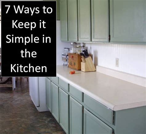 Kitchen Titles | feeling overwhelmed 7 ways to keep it simple in the