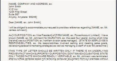 Reference Letter For Bad Employee Sle Every Bit Of Bad Employee Reference Letter