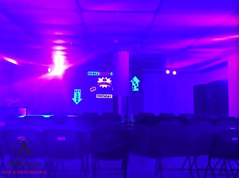 Black Light Rental by Allcargos Tent Event Rentals Inc Glow In The Uv